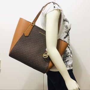 Michael Kors Kimberly large bonded Tote Bag Brown